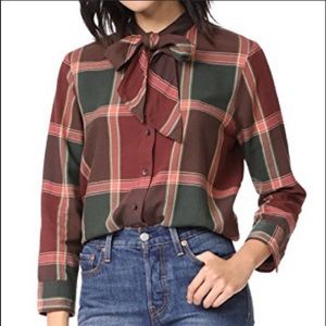 Madewell necktie plaid shirt